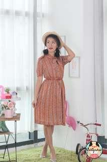 🍿 Vintage Midi Dress VD1265