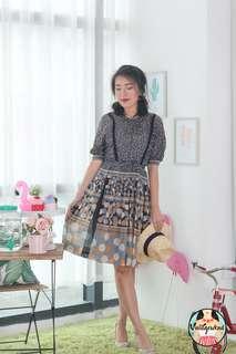 🍿 Vintage Midi Dress VD1268