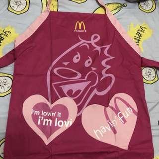 全新 麥當勞限量商品 圍兜兜 圍裙 大人小孩皆可穿