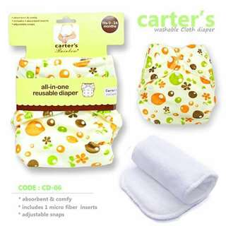 Carter's Cloth Diaper with FREE 1pc Microfiber Insert - CD06