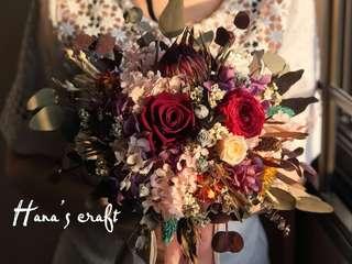 Wedding Bouquet (Preserved Flower & Dried Flower)