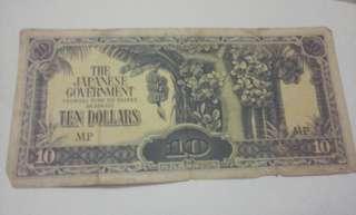 Japanese 10 dollars