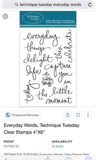 Technique Tuesday everyday words from Ali Edward