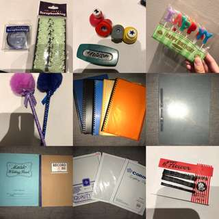 SCHOOL SUPPLIES AND DESIGN & CRAFT BUMDLE