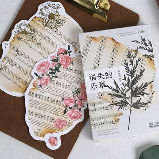 (PO) Old Music Sheets Postcards/ Post Card