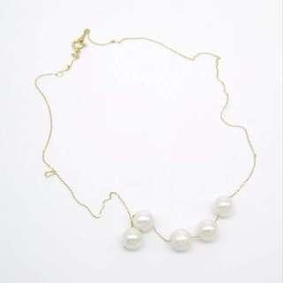 18k gold akoya pearl necklace / 18 k金日本海水珍珠頸鏈