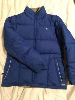 Champion blue puffer jacket