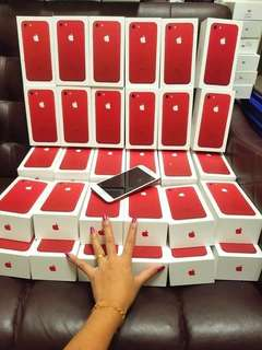 New original IPhone7 Red edition 32Gb $4000 128gb $4400 256gb $5000 free headset Bluetooth and case  warranty 1years