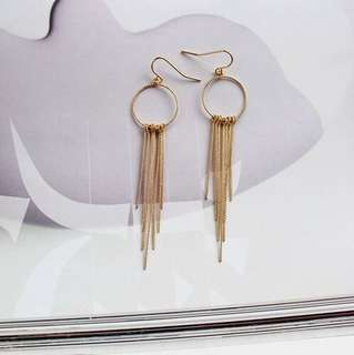 E26 Golden Chain Hoop Earrings