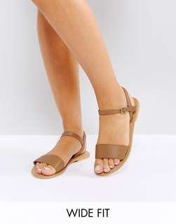 ASOS tan leather sandals