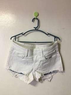 White Hipster short/shorts