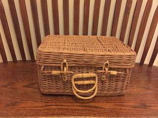Small Wicker Suitcase