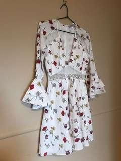 Floral dress showpo