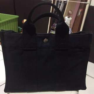 Hermes Canvas Navy Blue Authentic