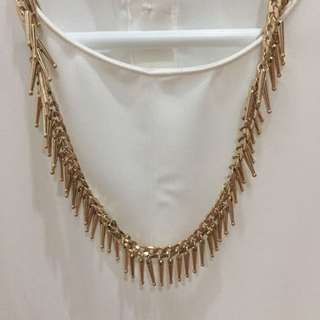 Forever 21 gold statement necklace