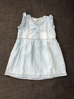 New Baby Dress in Blue Jeans Color