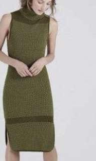 Shieke Khaki knit dress