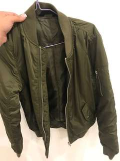 Khaki winter jacket