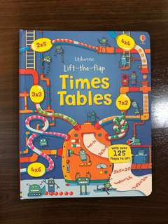 Usborne Times tables made easy lift the flap