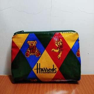 英國製 Harrods 泰迪熊 零錢包 古著魅惑
