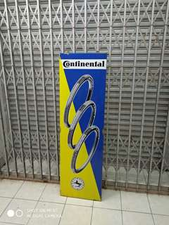 Tin signage Continental 1950s -60s
