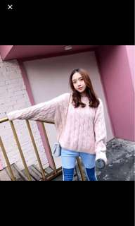 Korean style pink sweater/pullover
