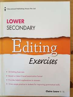 Secondary English Assessment Book-Editing