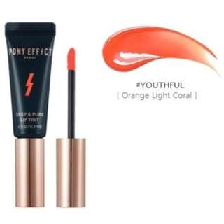 Korean brand Pony Effect Deep and Pure Lip Tint in shade Youthful
