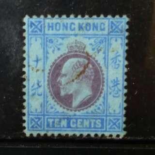 [lapyip1230] 香港 1903年 愛德華七世 十仙 VFU