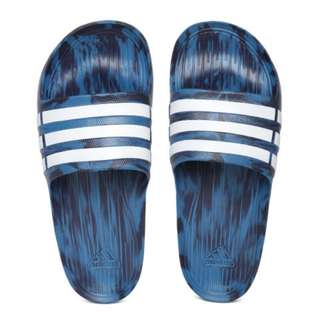 🚚 Adidas 全新 男女 藍色 潑墨 迷彩 運動 拖鞋 運動拖鞋 Duramo Slide US5/6/7/8/9