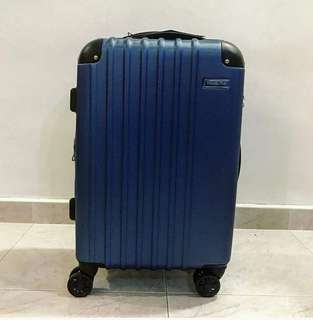 """Cabin Size Luggage blue 20"""" travel time"""