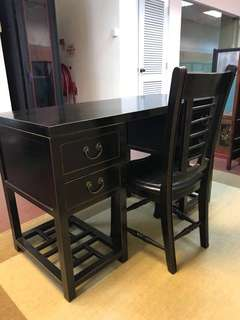 Used antique writing table & chair