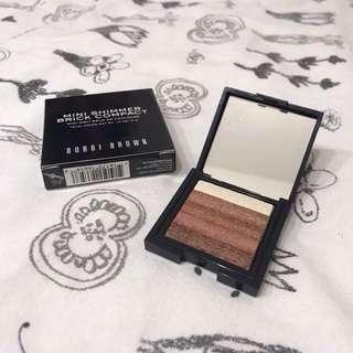 bobbi brown shimmer brick mini bronze highlight blush 🌻