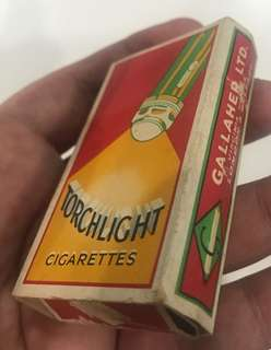 Vintage Torchlight Cigarette Box with Sleeve