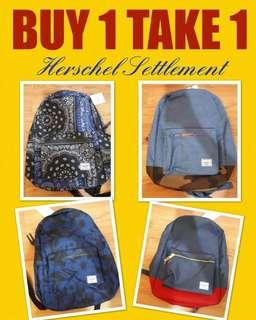 BUY 1 TAKE 1 Herschel Settlement Backpacks