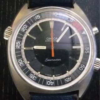 1970 Omega chronostop with orginal Omega band