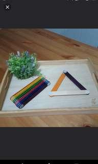 [FreeMail] Jumbo Shape Sticks (Coloured) $5