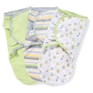 SwaddleMe Original Swaddle 3-PK, Busy Bees, 0-3 mth