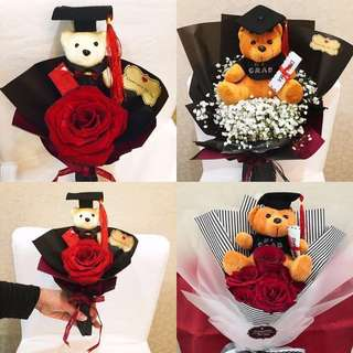FLOWERS BOUQUETS - Graduation Congratulatory Bear Bouquet