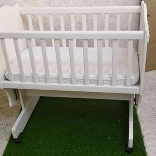 Mothercare Boori Cradle Solid Wooden Baby Cot