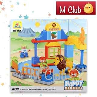 Mainan block happy circus 37pcs