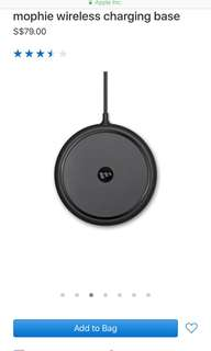 Apple Iphone mophie wireless charging base