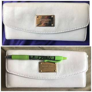 GENUINE Michael Kors White Leather Wallet: READ DESCRIPTION WELL