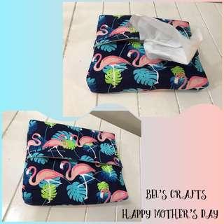 Handmade box up travel tissue pouches