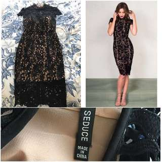 Preloved Seduce Cosmo Dress Black - Size 6