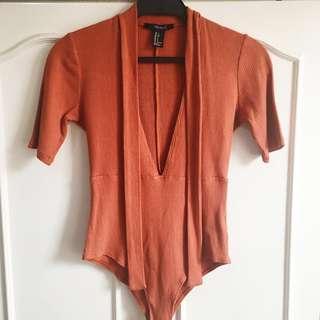 Forever 21 brown leotard top