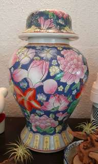 Colourful rare porcelain Vase