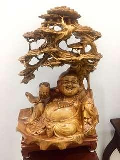 Grand Wood Matrieya Buddha