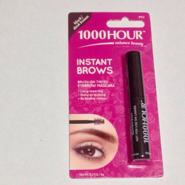 1000 Hour Instant Brow Mascara - Black/Dark Brown