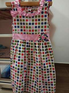 Colorful polka dot dress